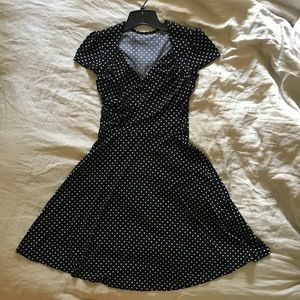 Leota sweetheart dress-black and white polka dot